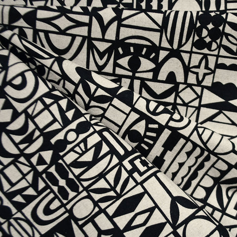 Japanese Papercut Geometric Canvas Black