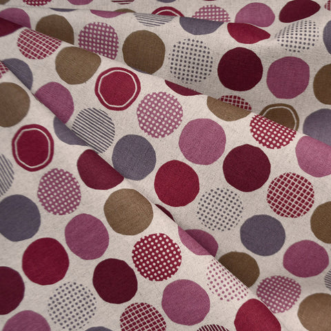 Japanese Multi Dot Canvas Plum/Wine