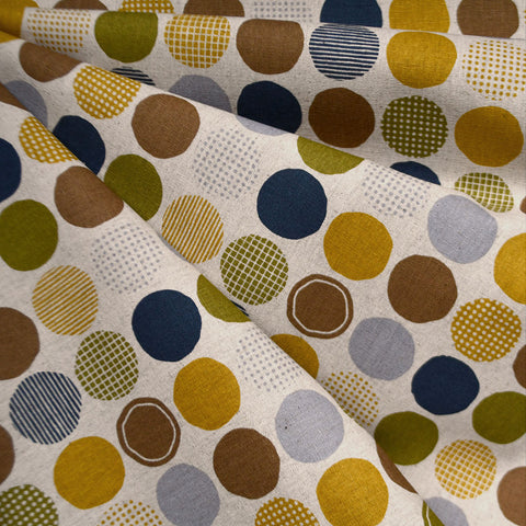 Japanese Multi Dot Canvas Mustard/Olive