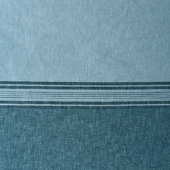 Wide Single Border Stripe Linen Blend Shirting Ocean - Sold Out - Style Maker Fabrics