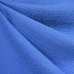 Cotton Double Gauze Solid Cornflower Blue - Sold Out - Style Maker Fabrics