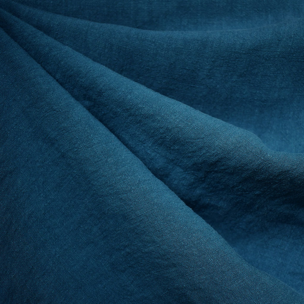 Soft Washed Linen Shirting Solid Teal SY - Sold Out - Style Maker Fabrics