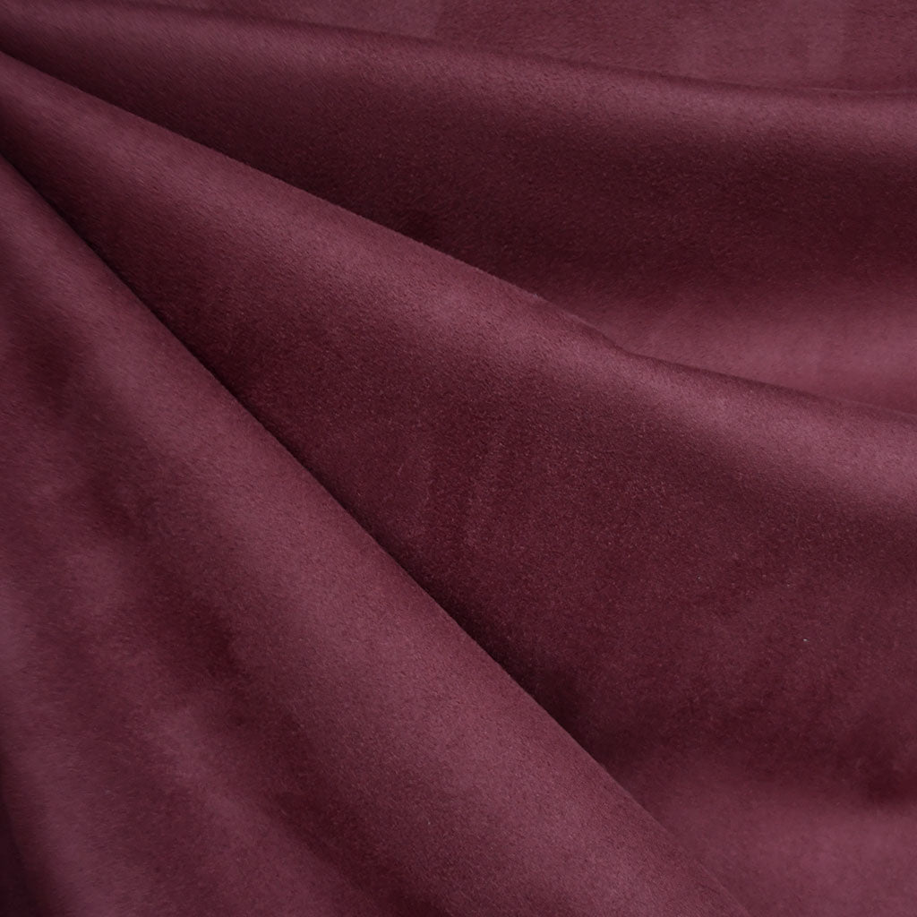 Reversible Buttery Suede Knit Solid Wine - Fabric - Style Maker Fabrics