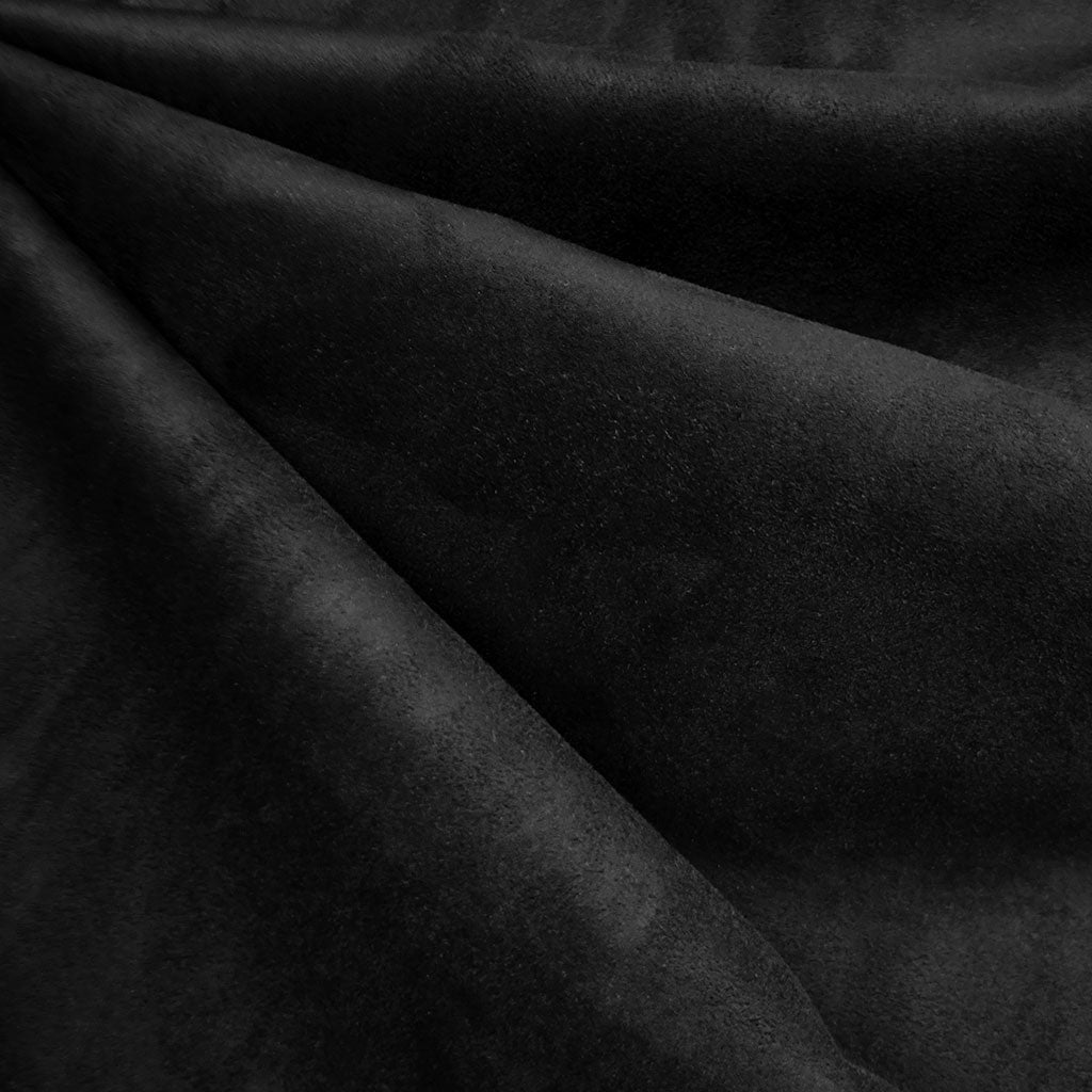 Reversible Buttery Suede Knit Solid Black - Fabric - Style Maker Fabrics