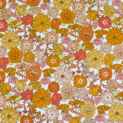 Early Spring Blooms Jersey Knit Citrus - Fabric - Style Maker Fabrics