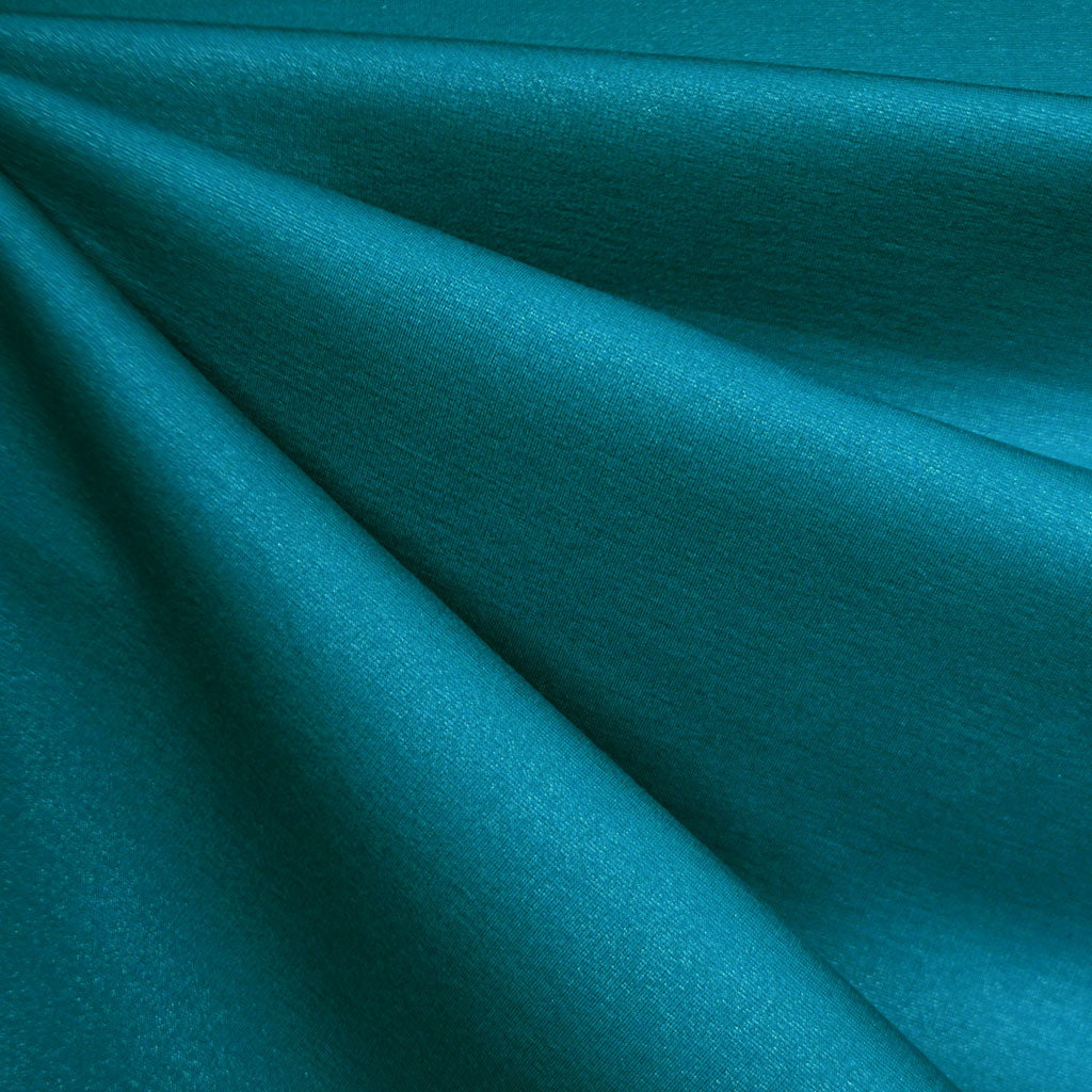 Touch of Sparkle Ponte Knit Solid Teal SY - Sold Out - Style Maker Fabrics