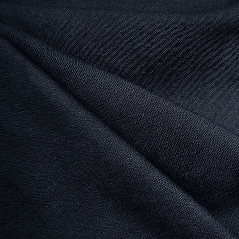 India Textured Cotton Cloth Navy