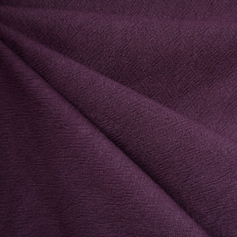 India Textured Cotton Cloth Eggplant