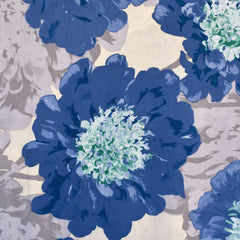 Statement Watercolor Floral Rayon Challis Periwinkle/Butter SY - Sold Out - Style Maker Fabrics