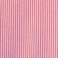 Chambray Stripe Cotton Shirting Red/White SY - Sold Out - Style Maker Fabrics