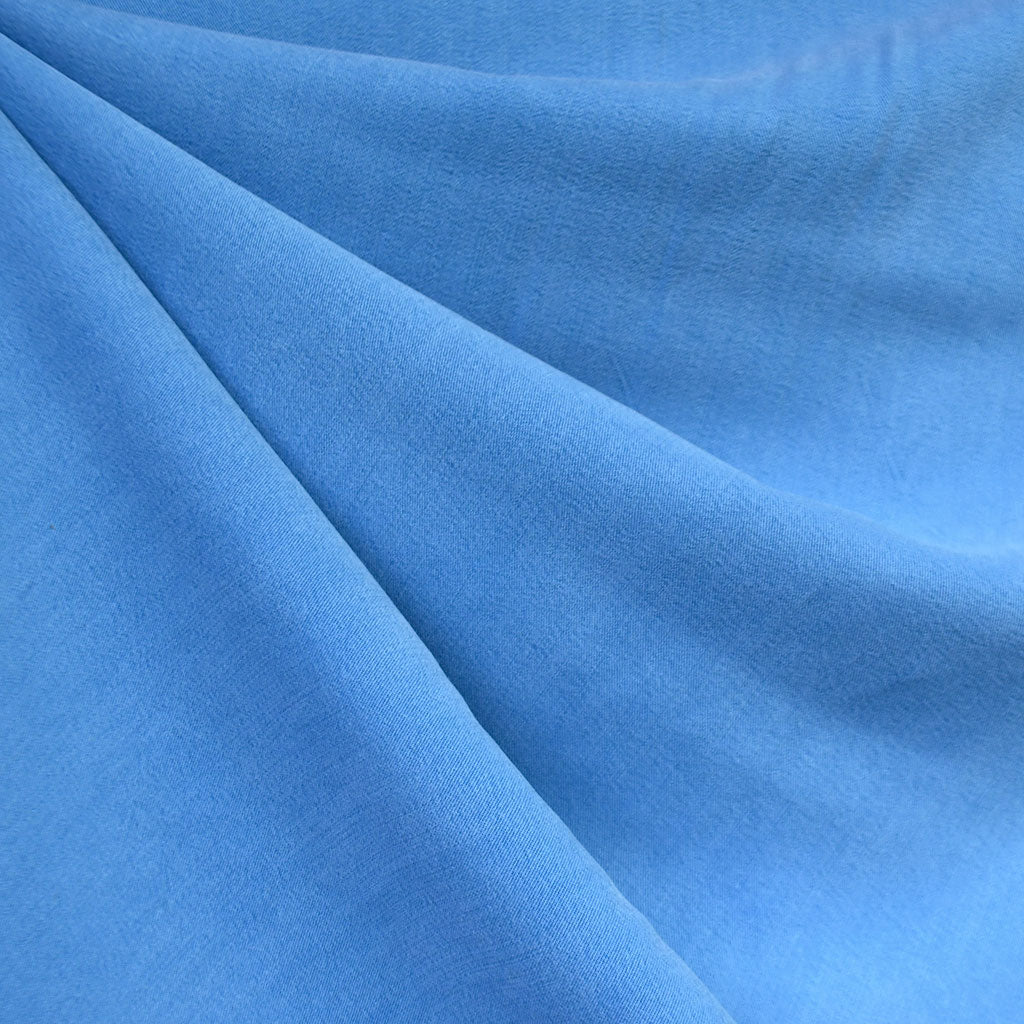Soft Washed Tencel Twill Solid Sky Blue - Sold Out - Style Maker Fabrics