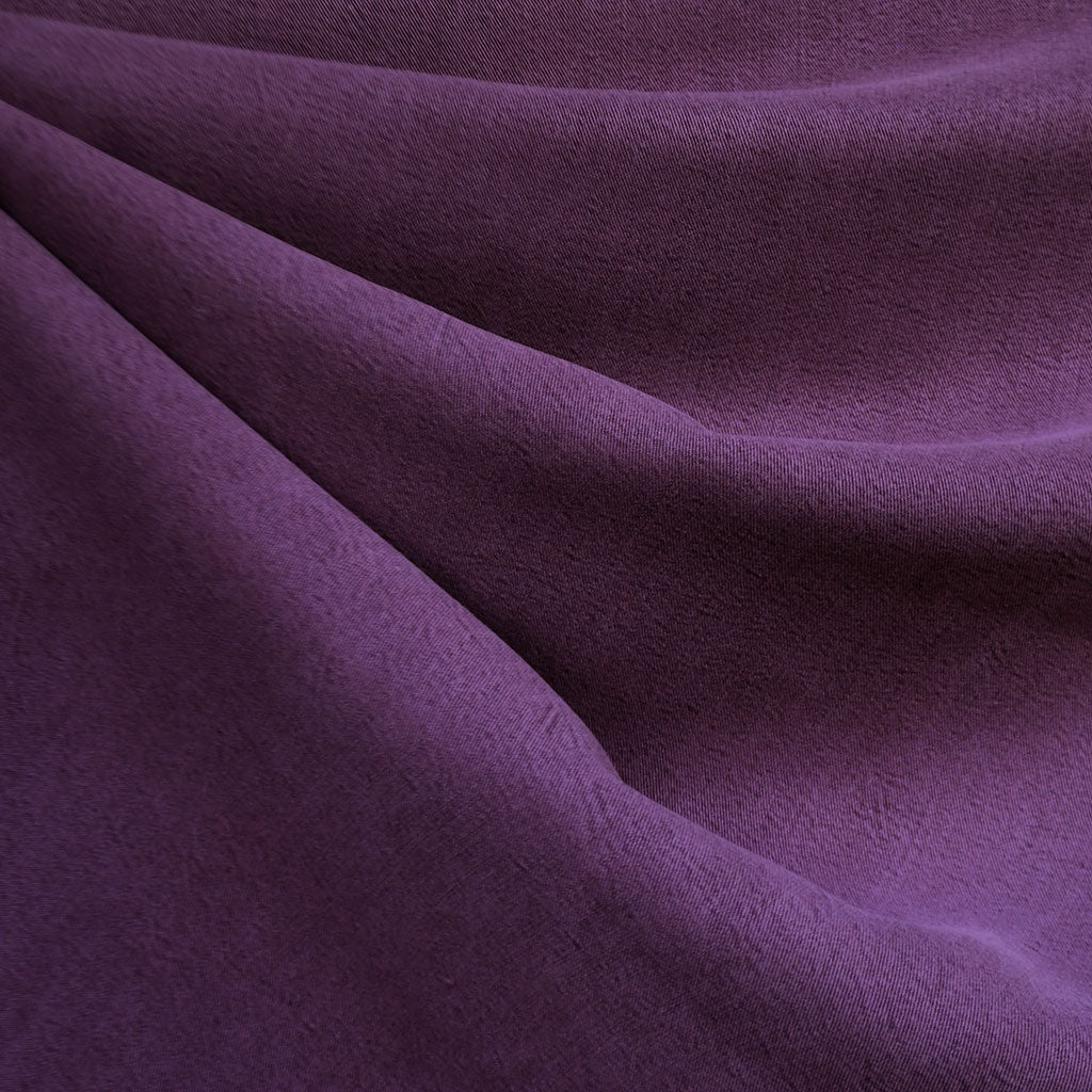 Soft Washed Tencel Twill Solid Plum SY - Sold Out - Style Maker Fabrics