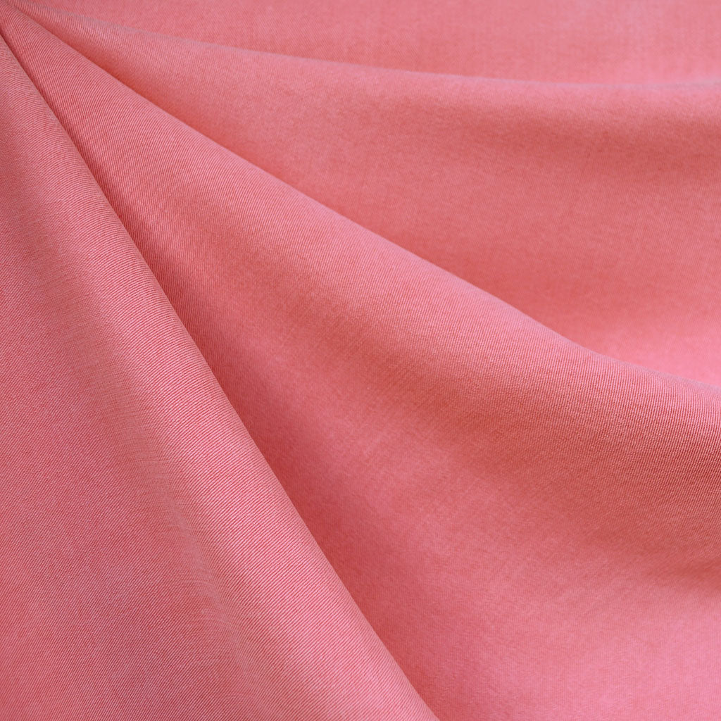 Soft Washed Tencel Twill Solid Melon SY - Sold Out - Style Maker Fabrics