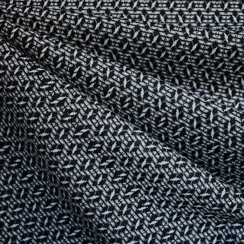 Diamond Geometric Double Knit Black/Grey
