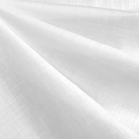 Crosshatch Cotton Voile Solid White