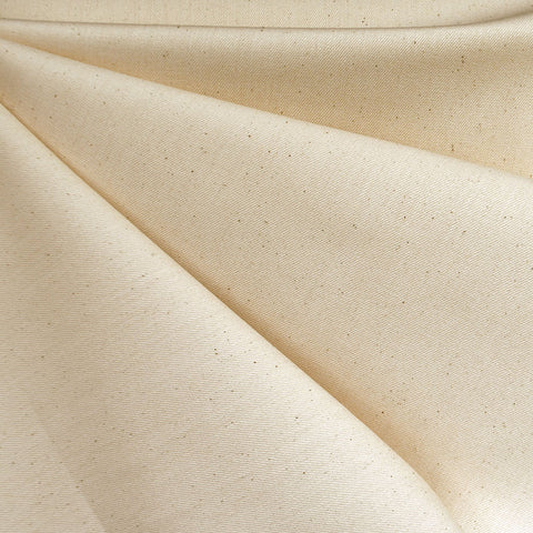 Undyed Stretch Cotton Denim Natural