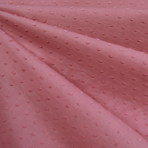 Tonal Swiss Clip Dot Shirting Rose