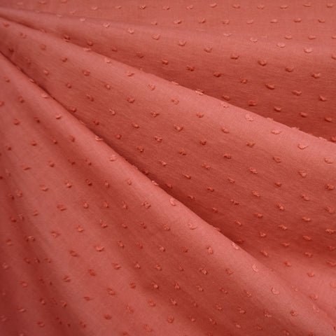 Tonal Swiss Clip Dot Shirting Salmon