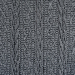 Soft Cable Stripe Sweater Knit Charcoal - Fabric - Style Maker Fabrics