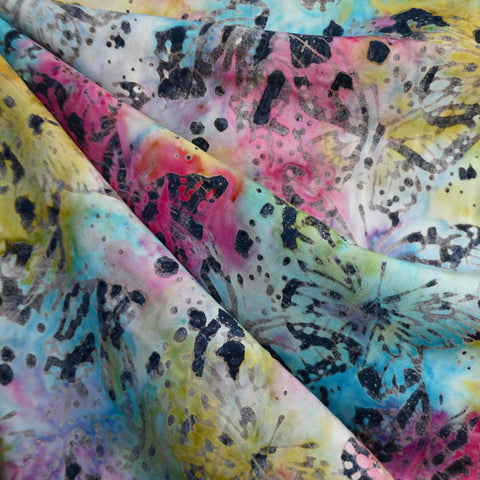 Layered Butterfly Rayon Batik Sunrise
