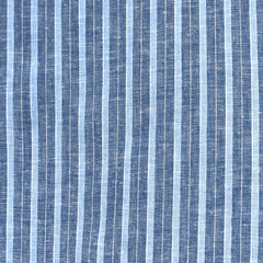 Multi Stripe Linen Blend Shirting Indigo/Blue - Sold Out - Style Maker Fabrics