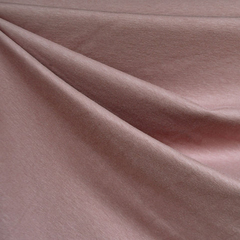 Cotton Modal Jersey Knit Solid Rose