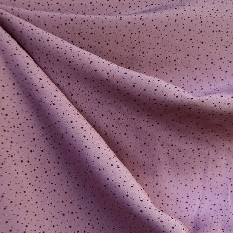 Tiny Scatter Dot Rayon Crepe Lavender