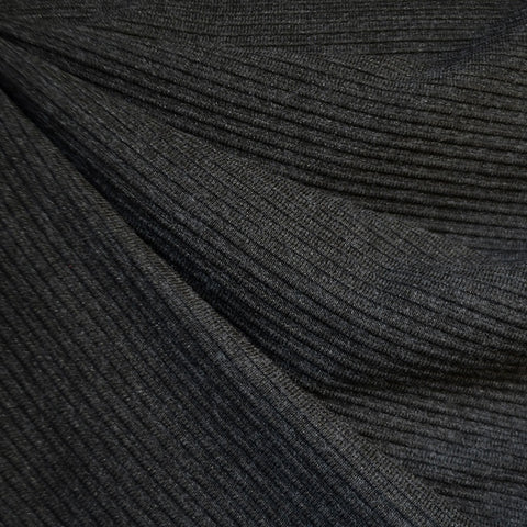 Ultra Plush Stripe Texture Sweater Knit Charcoal