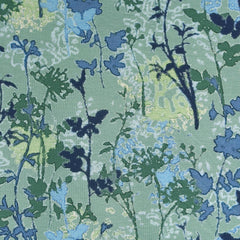 Abstract Wild Flowers Rayon Jersey Knit Seafoam/Blue - Fabric - Style Maker Fabrics