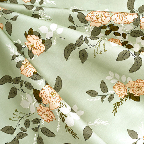 Her & History Secret Garden Pima Cotton Mint SY