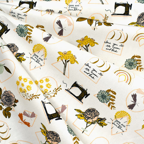 Her & History Sewing Sunshine Pima Cotton Vanilla