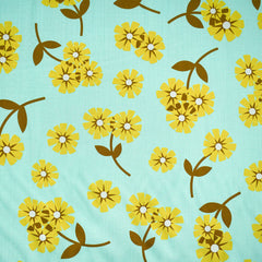 Butterscotch Layered Daisy Rayon Mint - Fabric - Style Maker Fabrics