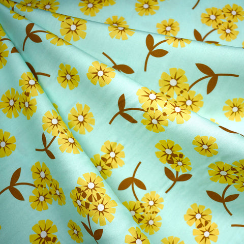 Butterscotch Layered Daisy Rayon Mint