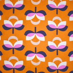 Butterscotch Mod Floral Rayon Creamsicle SY - Sold Out - Style Maker Fabrics
