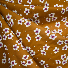 Sangria Scattered Blossom Rayon Cinnamon SY - Sold Out - Style Maker Fabrics