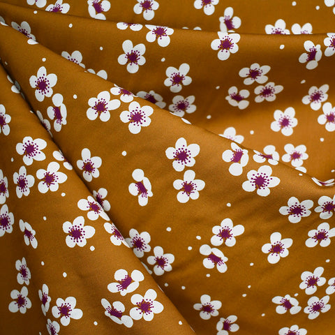 Sangria Scatted Blossom Rayon Cinnamon