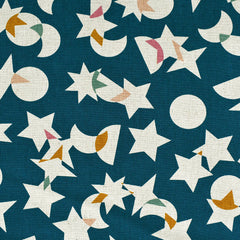 Stellar Layered Star Canvas Teal - Fabric - Style Maker Fabrics