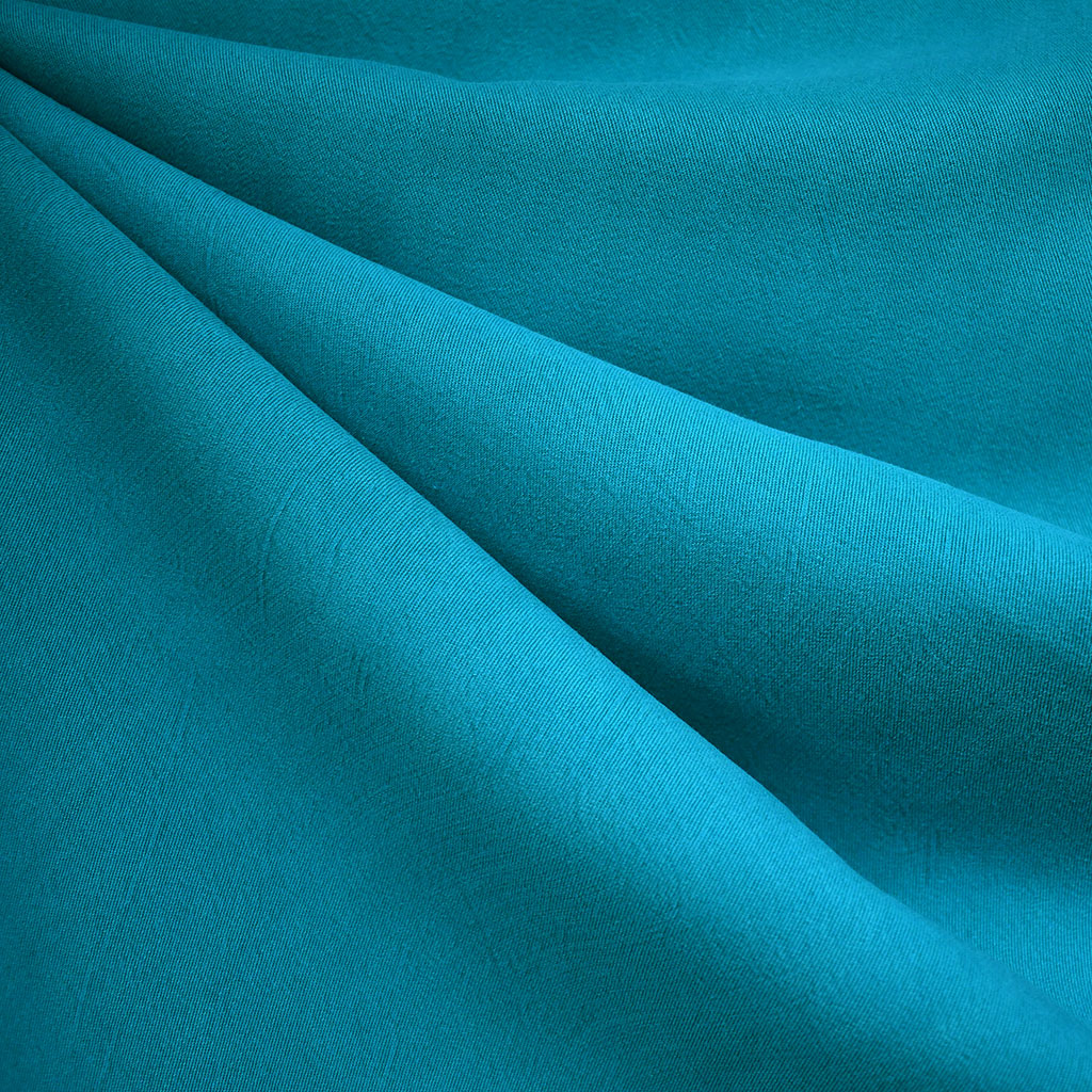 Soft Washed Tencel Twill Solid Turquoise - Fabric - Style Maker Fabrics