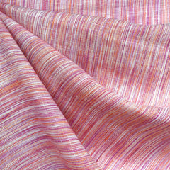 Variegated Stripe Linen Shirting Tangerine/Berry SY - Sold Out - Style Maker Fabrics