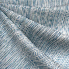 Variegated Stripe Linen Shirting Blue/Aqua - Fabric - Style Maker Fabrics