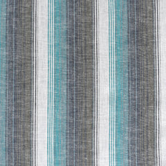 Soft Washed Stripe Linen Blend Shirting Turquoise - Sold Out - Style Maker Fabrics