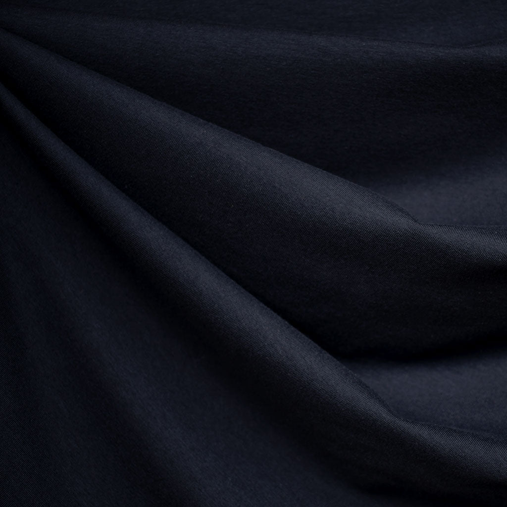 Cotton Modal Jersey Knit Solid Navy SY - Sold Out - Style Maker Fabrics