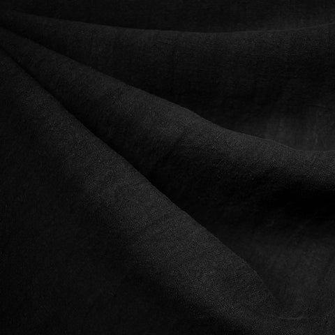 Soft Washed Linen Solid Black