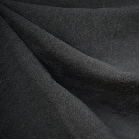 Soft Washed Linen Solid Charcoal