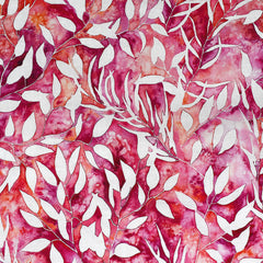 Brightly Blooming Botanical Leaves Cotton Fuchsia - Sold Out - Style Maker Fabrics