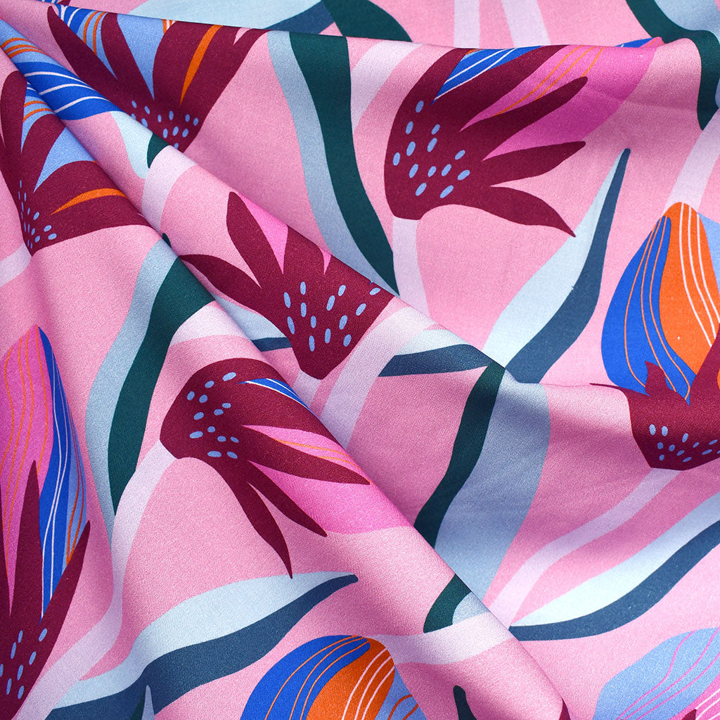 Airflow Large Bloom Rayon Kiss - Fabric - Style Maker Fabrics