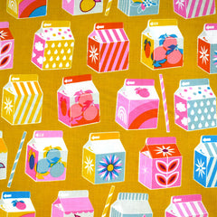 Clementine Juicy Print Cotton Goldenrod SY - Sold Out - Style Maker Fabrics
