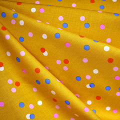 Clementine Spritz Print Cotton Goldenrod SY - Sold Out - Style Maker Fabrics