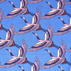 Airflow In Flight Cranes Print Cotton Dusk - Sold Out - Style Maker Fabrics