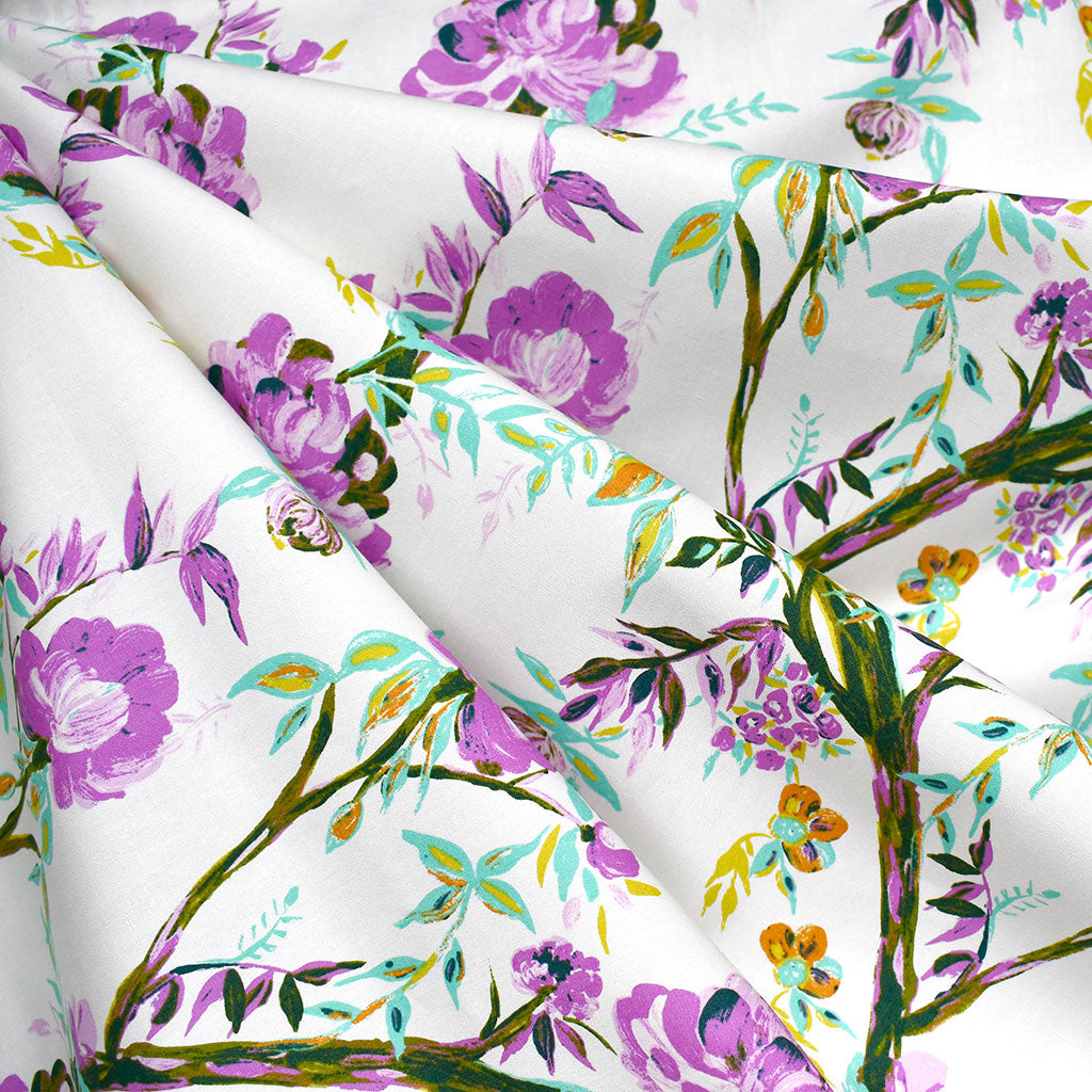 365 Fifth Avenue Betty Anne Floral Premium Cotton Vanilla - Sold Out - Style Maker Fabrics